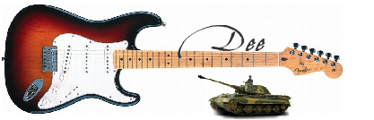 Dee Guitar Tank Signature