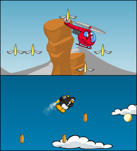 Jet Pack Game and Hubi