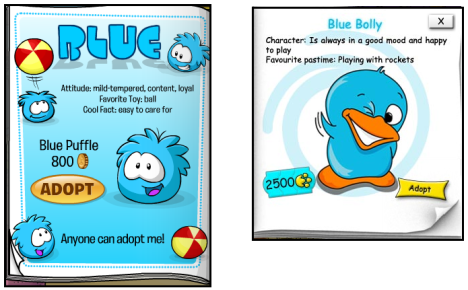 Puffle and Bolly